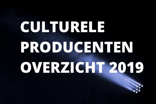 Culturele producenten overzicht