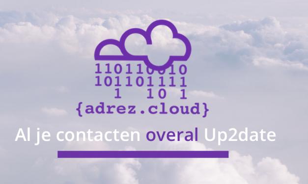 {adrez.cloud} voor Up2Date Contacten