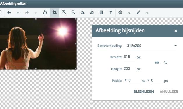 Nieuwe afbeeldingenmanager en -editor van MailingLijst